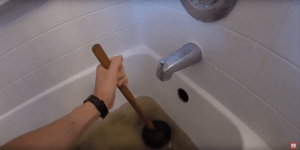 Try to use the plunger