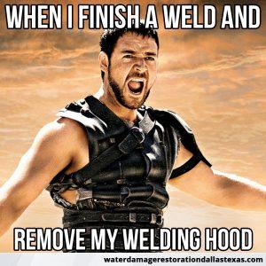 after I take off my welding helmet