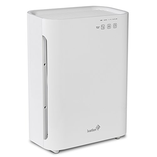 Ivation Medium Size 3-in-1 True HEPA Air Purifier, Sanitizer, and Deodorizer with UV Light