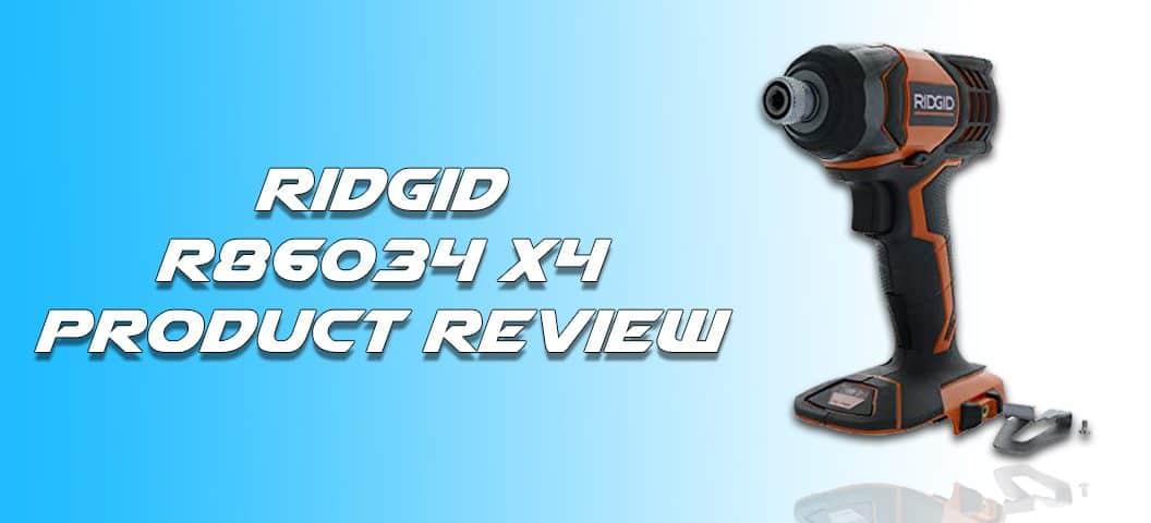 Ridgid R86034 X4