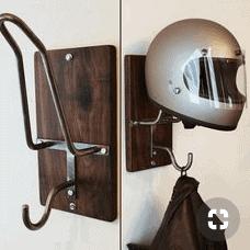 Nice helmet rack