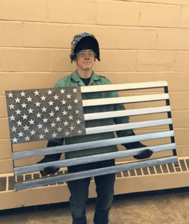 US flag welding project gone viral