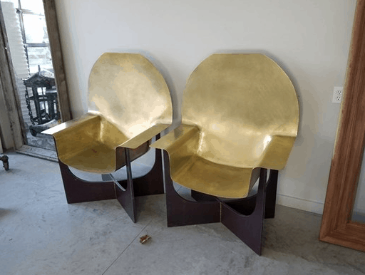 bronze french chairs