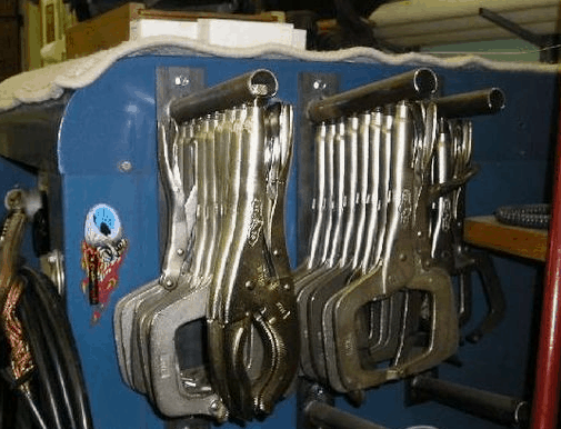 several c-clamps