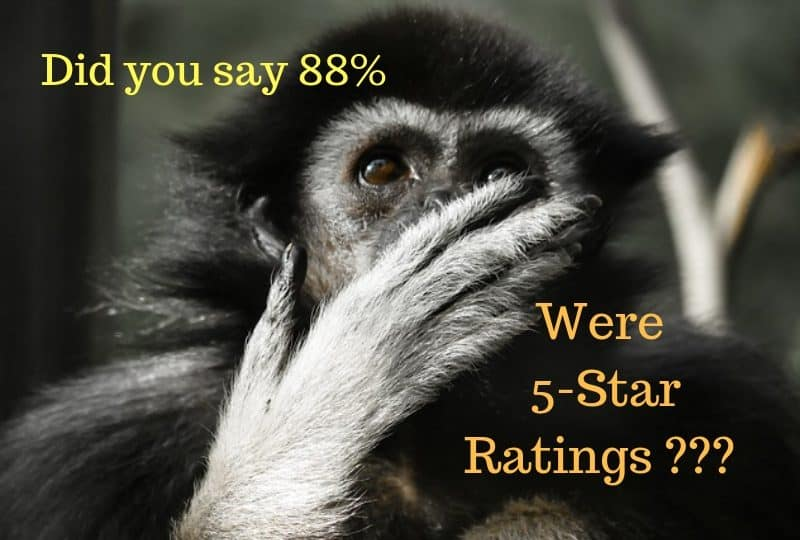 Exceptional 5 star ratings