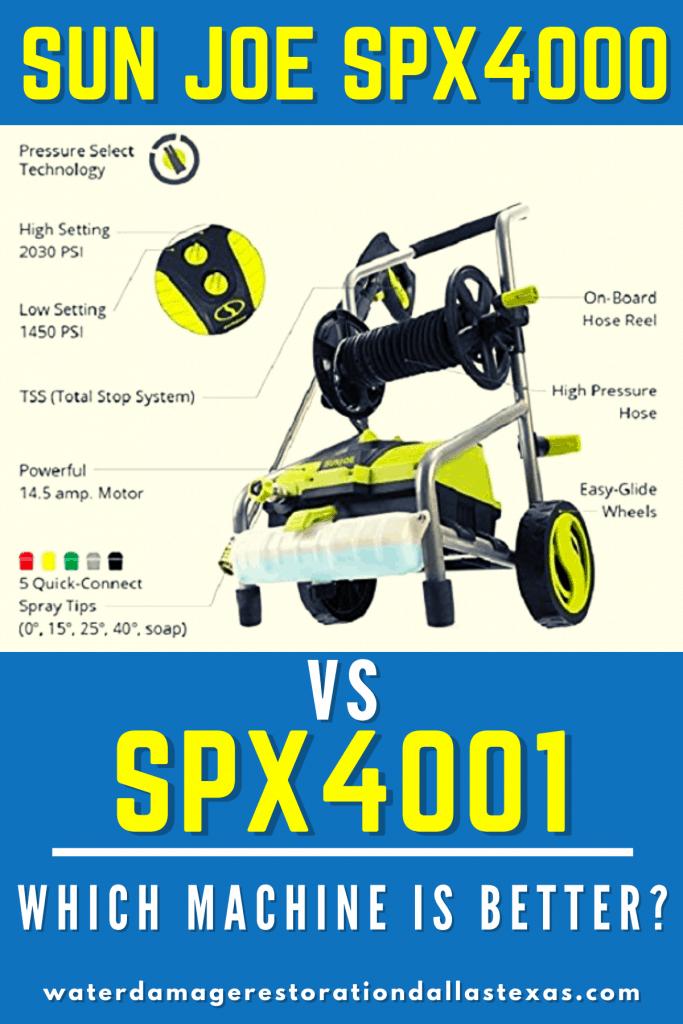 sun joe spx4000 vs spx4001
