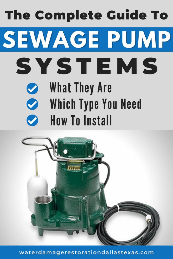 sewage plumbing systems