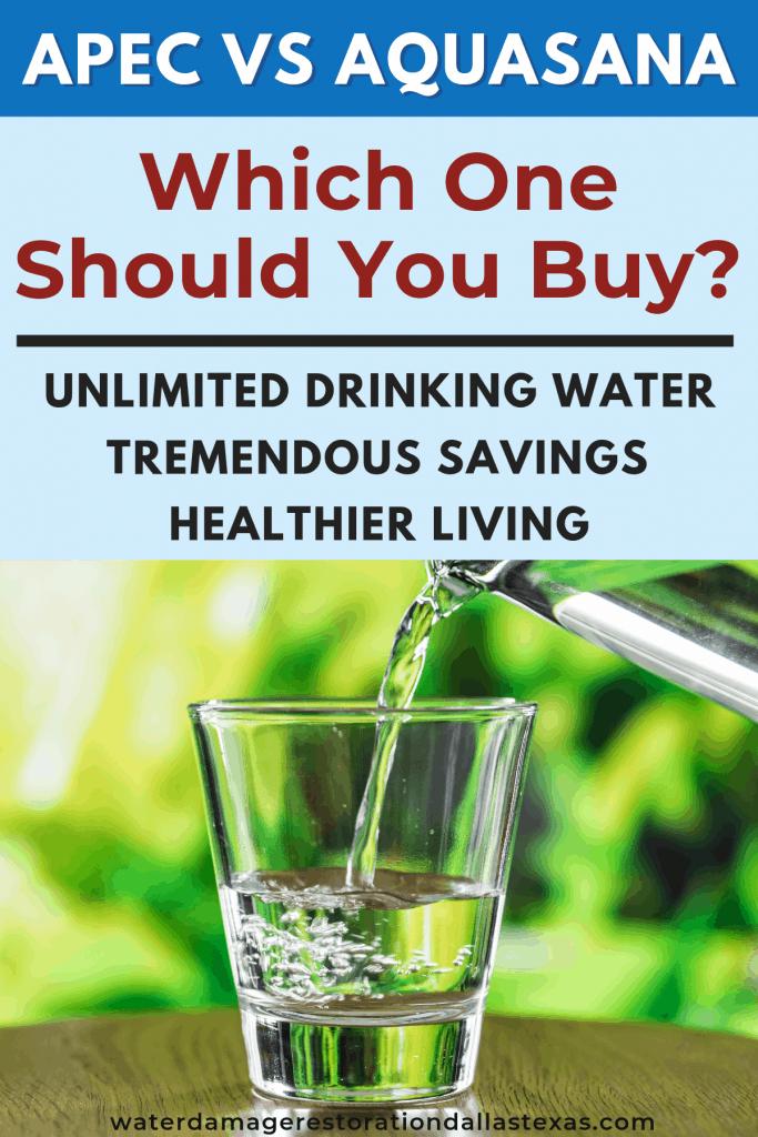 apec vs aquasana water filter comparison