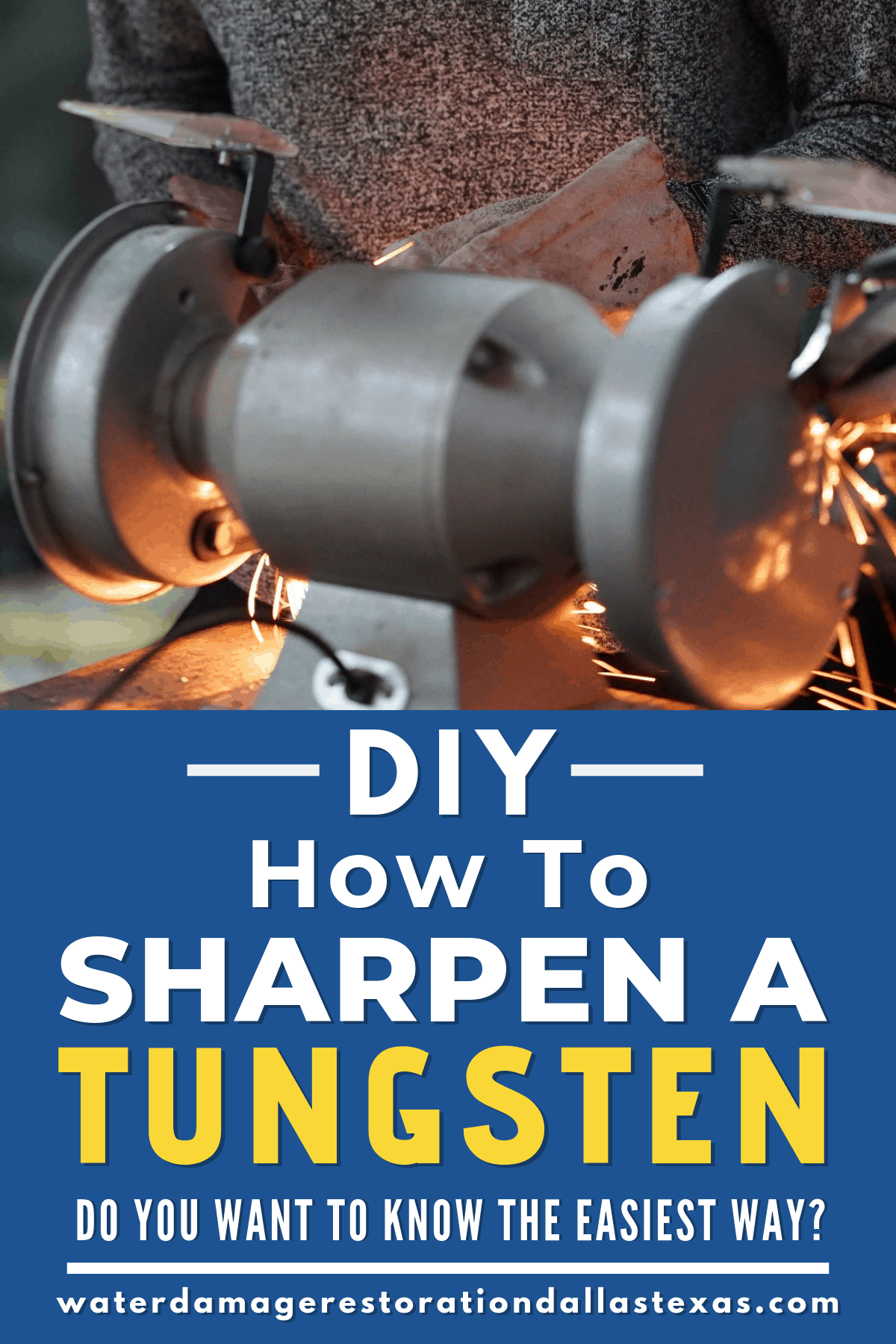 how to sharpen a tungsten