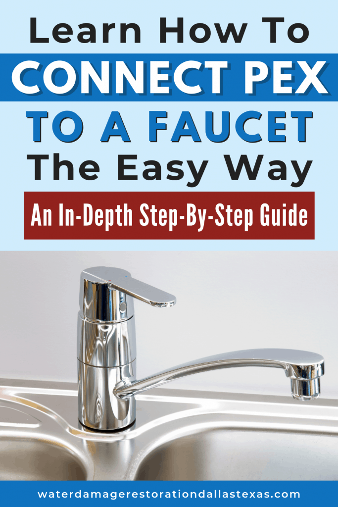 how to connect pex to a faucet