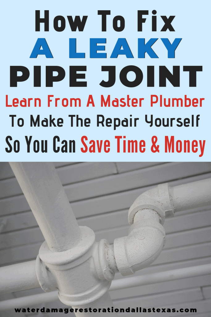 how to fix a leaky pipe joint