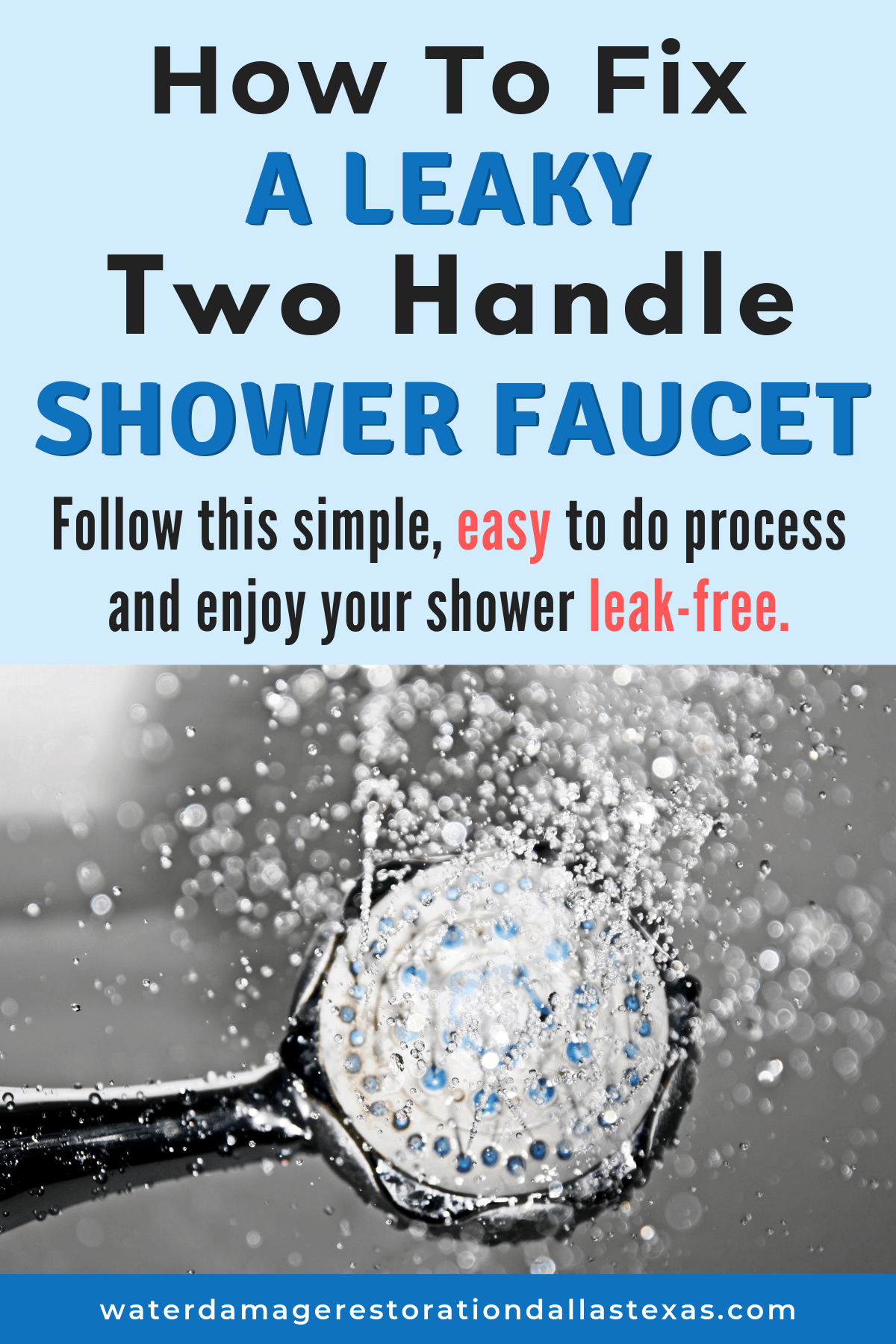 How to fix a leaky shower faucet
