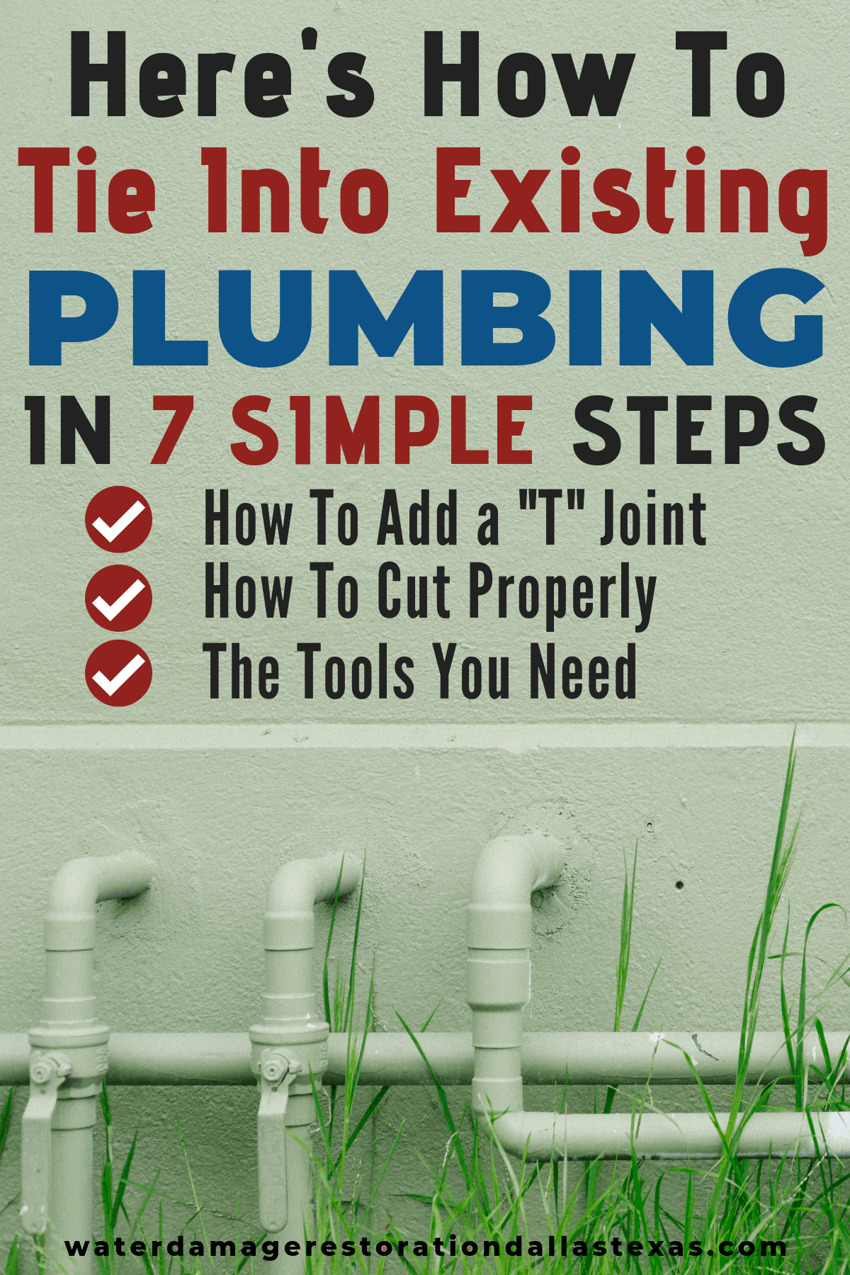 how to tie into existing plumbing
