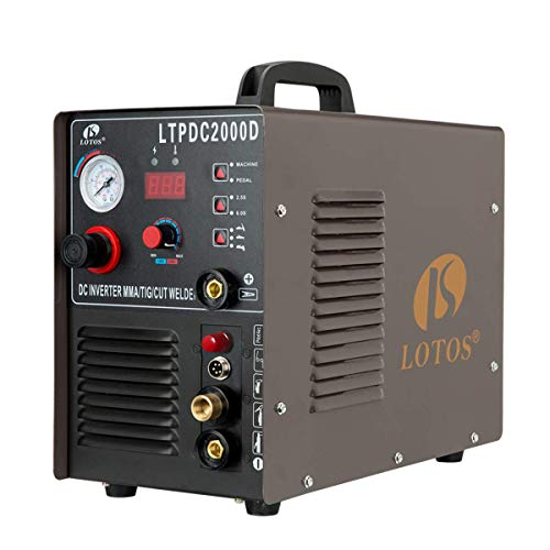 Lotos LTPDC2000D Non-Touch Pilot Arc Plasma Cutter Welder 3 in 1 Combo Welding Machine