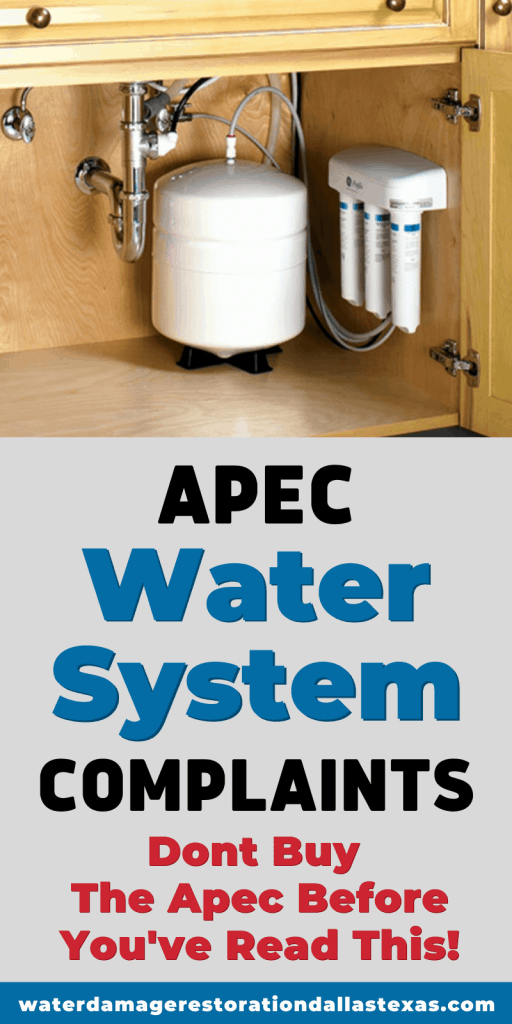 Apec is one of the biggest brands out there for water filtering. But there have also been some complaints about using some of their products. We go through some of them.