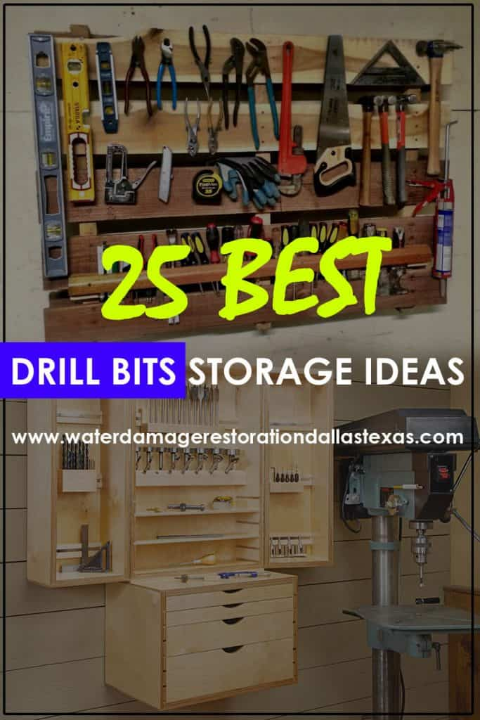 we have a collection of the wide and differenct sizes of drill bits and different storage ideas for all DIY's