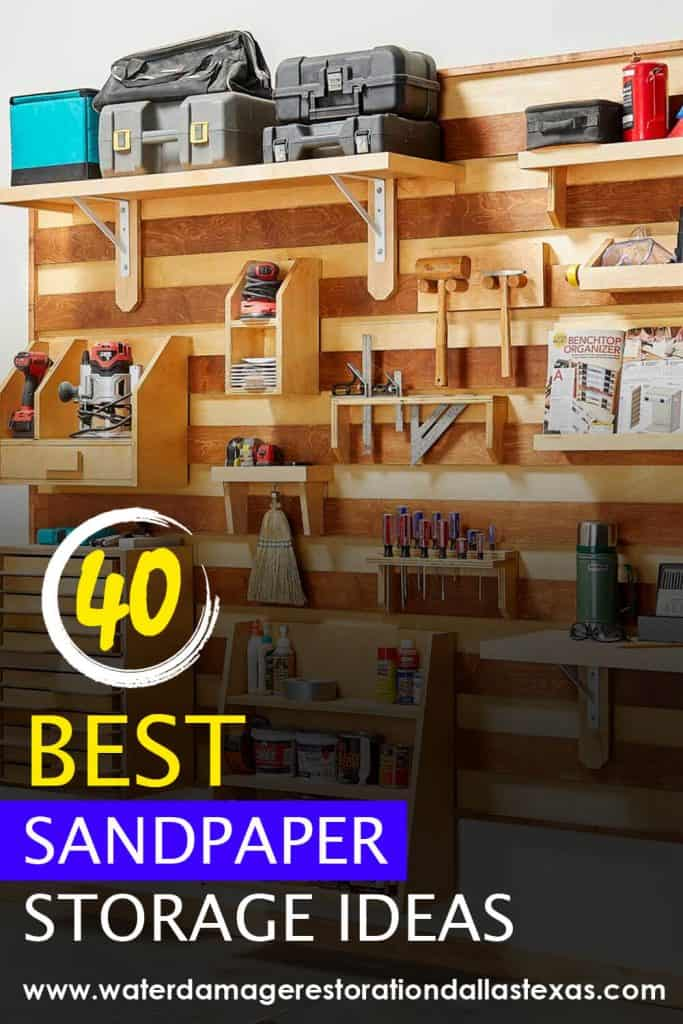 we have gathered all the best DIY sandpaper storage ideas so people with fabrication shops can have everything organized