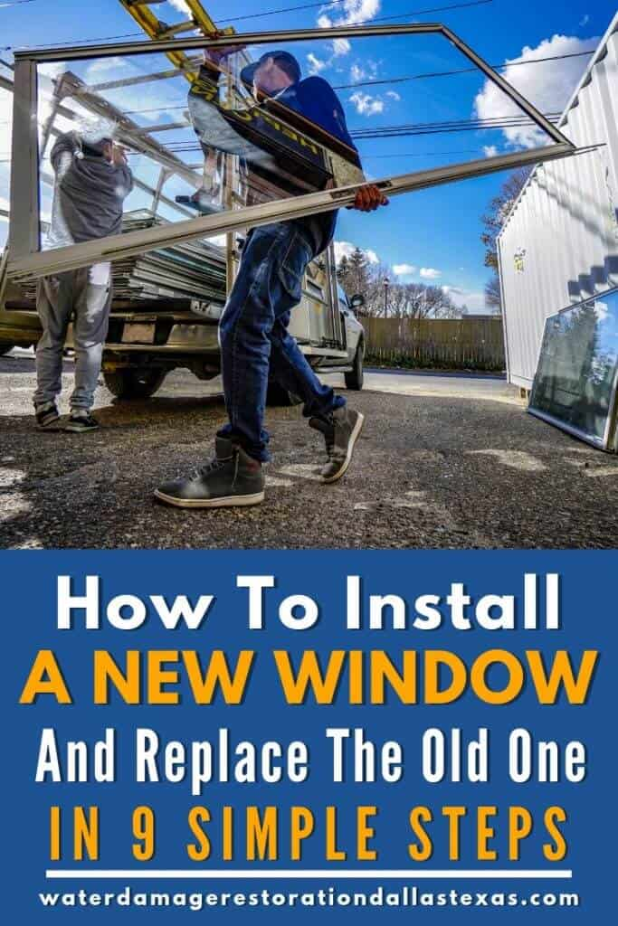 this post shows the reader how they can change the old window with; sawing the window out, put in insulation and put in a new window in nine steps.