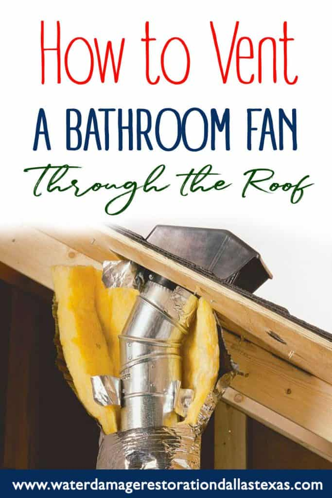 the post discusses what you need to do to get the bathroom fan through the roof. Such as the ductwork,where to drill the hole and connecting the bathroom with the roof.